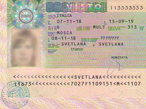 виза D в Италию